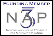 Logo Recognizing Miller Law Office, PLLC's affiliation with the National Alliance of Attorneys for Alzheimer's Planning