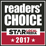 Logo Recognizing Miller Law Office, PLLC's affiliation with Reader's Choice 2017 Star